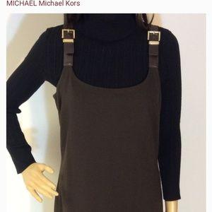 Michael Kors Brown Buckle Dress